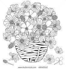 heart shape pattern spring flowers on stock vector 401729071