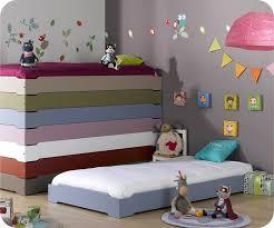 chambre enfant com lit enfant empilable bleu chine 90x190 cm avec sommier lit