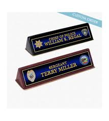 name plates for police department