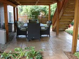 Deck Patio Designs by Stamped Concrete For Under Deck Outside Pinterest Stamped