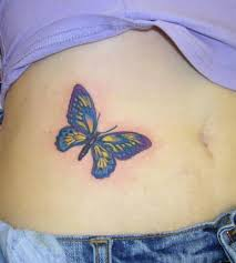 yellow butterfly tattooimages biz