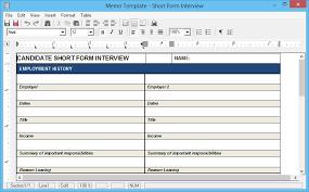 short form interview questions u201d as a standard memo resumate inc