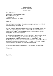 resignation letter proper corporate resignation letter sample