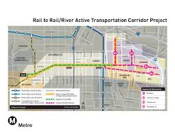 Los Angeles Train Map by Six Things To Know About Metro U0027s Rail To Rail River Project The