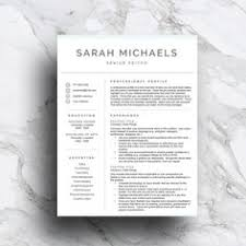 creative script resume template with pink ombre and gray color