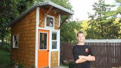 13 year old builds 1 500 tiny house in family u0027s backyard abc news
