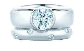 Tiffany And Co Wedding Rings by Etoile Platinum And Diamond Engagement Ring And Band Tiffany