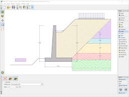 Free Timber Truss Design Software by Cantilever Wall Geotechnical Software Geo5 Fine