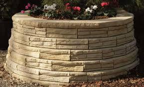 natural impressions flagstone retaining wall