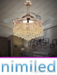 2018 nimi843 36 42 crystal invisible ceiling fan light lights