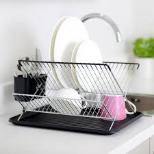 Dish Drainer Procook Flat Pack Dish Drainer Black Amazon Co Uk Kitchen U0026 Home