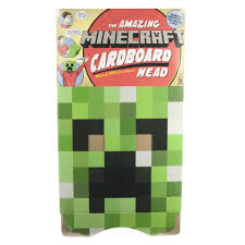 Minecraft Skeleton Halloween Costume by Minecraft Cardboard Heads Role Play Creeper Toys