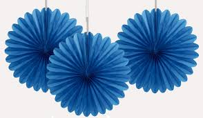 royal blue tissue paper 6 inch royal blue tissue paper fans are great for party