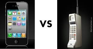 Old Cell Phone Meme - smartphone compared with old cell phone from 80s by william chang