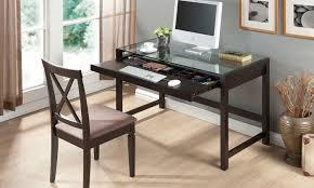 wood desk with glass top wood desk with glass top groupon goods