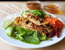 grilled lemongrass chicken with vietnamese rice noodle salad the