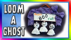 loom a ghost for halloween decorations youtube
