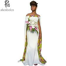 wedding dress batik women fashion white joint beautiful batik fabric dress