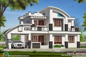 2900 square feet 4 bhk contemporary style curved roof mix home