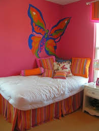 Wall Paintings Designs Sweet Butterfly As Paintings Ideas On Pink Wall Paint Suitable For