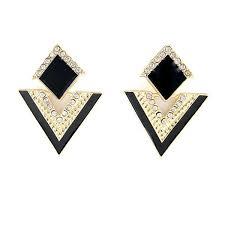 triangle earrings fanhua jewelry beautiful enamel rhinestone triangle earrings