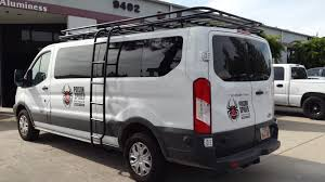ford transit ford transit with aluminess roof rack and ladder going to moab to