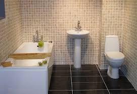 Tiled Wall Boards Bathrooms - bathroom ceramic tile flooring single sink wooden console