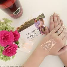champagne metallic personalized flash tattoos