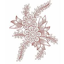 design embroidery redwork outline embroidery design