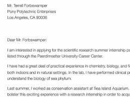 cover letter summer internship cover letter for internship sample
