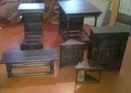 Ebay Reception Desk by Norman Jones Vintage Handcarved Tudor Dolls House Furniture