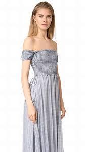 the jetset diaries river off shoulder dress indigo casual dresses