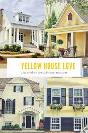 yellow house love blue shutters yellow houses and blue grey