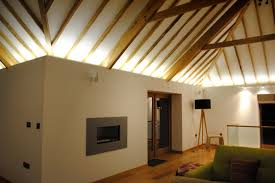 High Ceiling Led Lighting Beautiful Barn Uses Led Light Strips To Enhance Its High Ceilings
