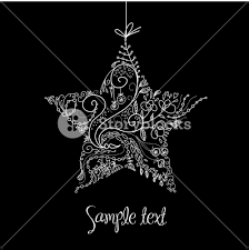 White Christmas Star Decorations by Black And White Christmas Star Illustration Royalty Free Stock