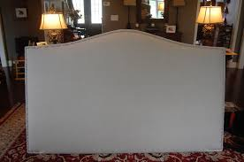 Custom Made Fabric Headboards by Hand Crafted Camelback Upholstered Headboard Natural Linen