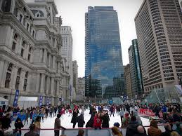 a skating rink appears in center city