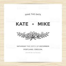 Invitation Card Picture Save The Date Wedding Invitation Card With Hand Drawn Flower Stock