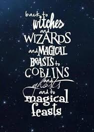 back to witches and wizards and magical beasts to goblins and