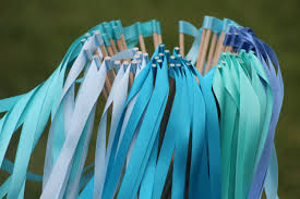 ribbon streamers 100 wedding ribbon wands party ribbon streamers party