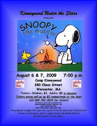 theatre stars presents snoopy musical girls