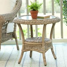 wicker side table with glass top rattan end tables wicker side table with glass top gilesand