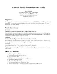 Examples Of Resumes For Customer by Resume Customer Service Objective Samples For Representative
