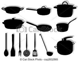 ustencils cuisine ustensiles cuisine pots cuisine silhouette ustensiles
