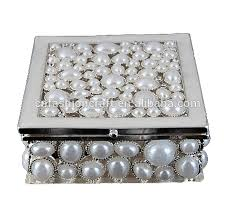 Jewelry Box Favors Wedding Favors Guest Gift White Metal Crystal Rhinestone Jewelry
