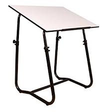 White Drafting Table Tech Drafting Table Black Base Arts Crafts Sewing