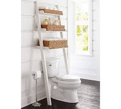 over the toilet etagere ainsley over the toilet ladder with baskets pottery barn