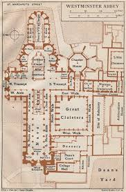 floor plan of westminster abbey westminster abbey vintage map plan london 1922