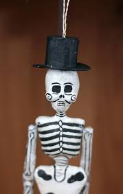 recycled paper skeleton ornament by foster the