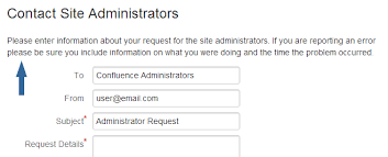 contact admin configuring the administrator contact page atlassian documentation